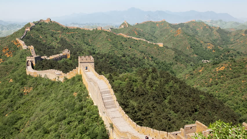 Great wall of China in Beijing, time lapse