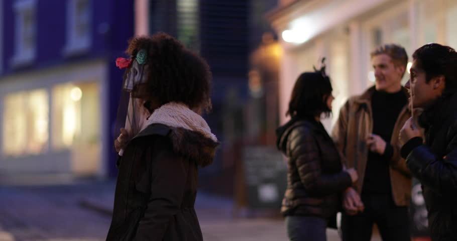 Friends going out for Halloween | Shutterstock HD Video #32179762