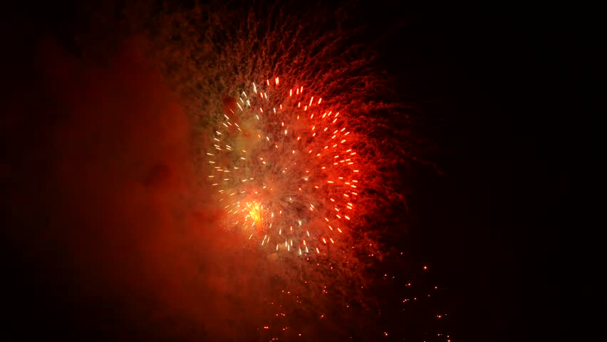 The fireworks in the night sky | Shutterstock HD Video #32207962