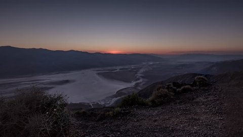 Time Lapse of Death Valley from Dante's View