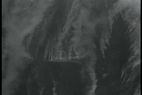 CIRCA 1940s - WW2 news reports on the sinking of the German battleship the Tirpitz.