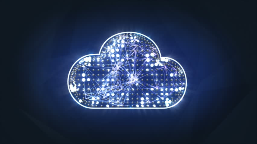 Cloud computing concept. Camera is flying trough digital clouds. The clip is loopable. | Shutterstock HD Video #3228772
