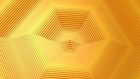 Background From Animated Hexagons. Abstract background, 2 in 1, loop, created in 4K, 3d animation