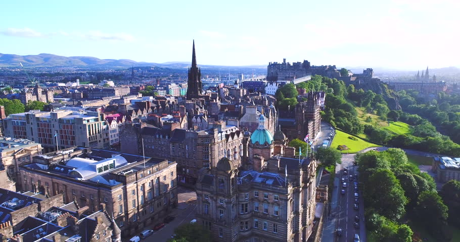 Aerial Edinburgh Scotland UK