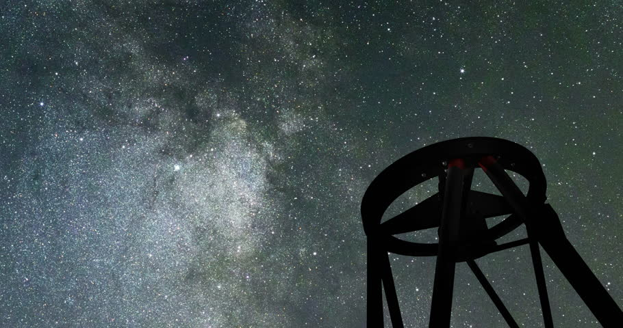 Large Telescope and Night Sky. Astronomical Telescope. Starry Night sky VLT | Shutterstock HD Video #32413372
