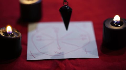 A seer pendulum for fortune telling, or divination