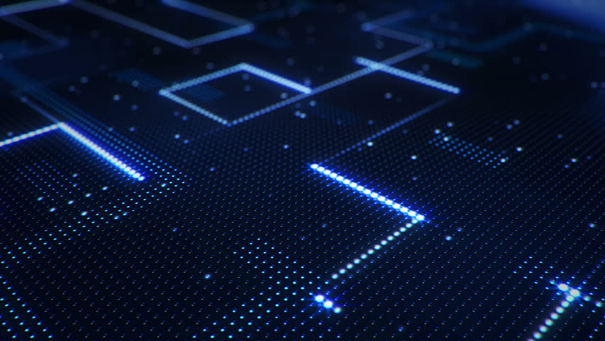 Abstract technology background of led screen with moving stripes and flickering particles. Animation of circuit electric signal with light shine. Animation of seamless loop. | Shutterstock HD Video #32508232