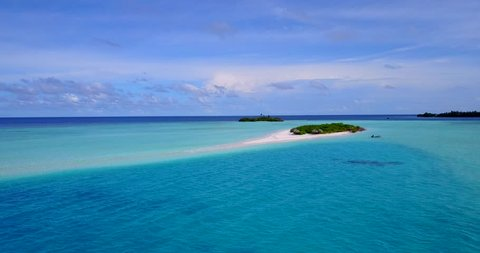 v15254 maldives white sand beach tropical islands with drone aerial flying birds eye view with aqua blue sea water and sunny sky