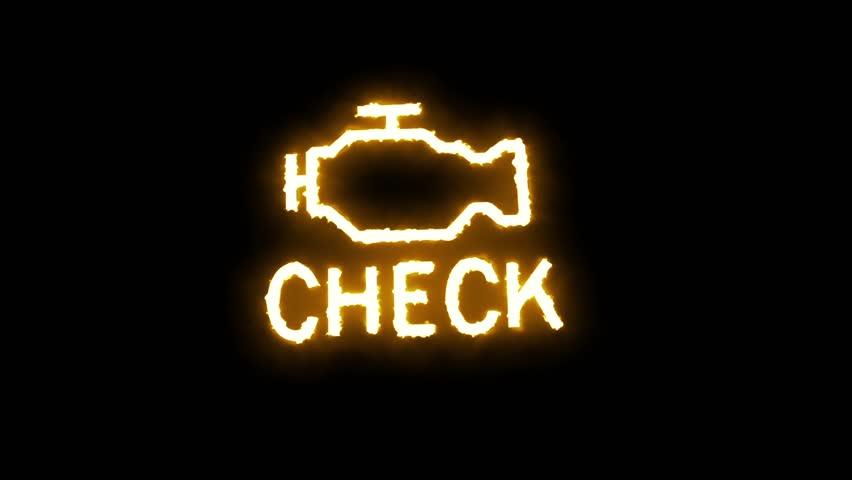 Check Engine Light Flashing >> Flashing Check Engine Light Sign Stock Footage Video 100