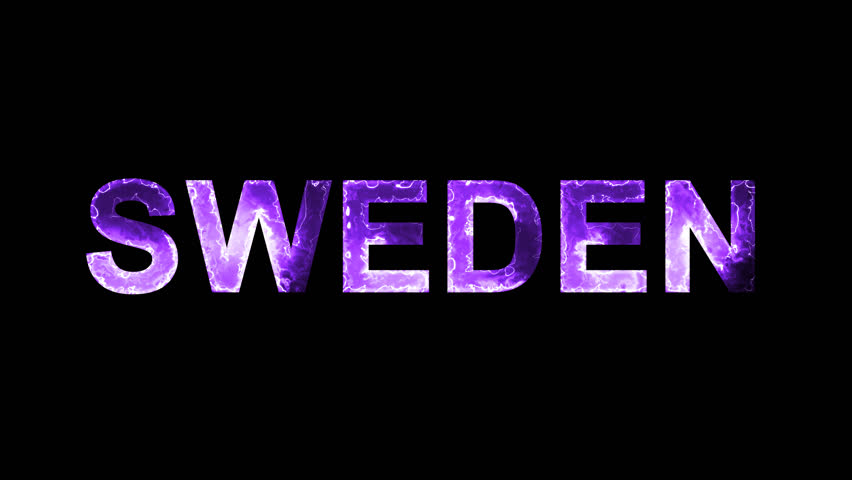 Luminous and shimmering haze inside the letters of the country name SWEDEN. Transparent, Alpha channel | Shutterstock HD Video #32603893