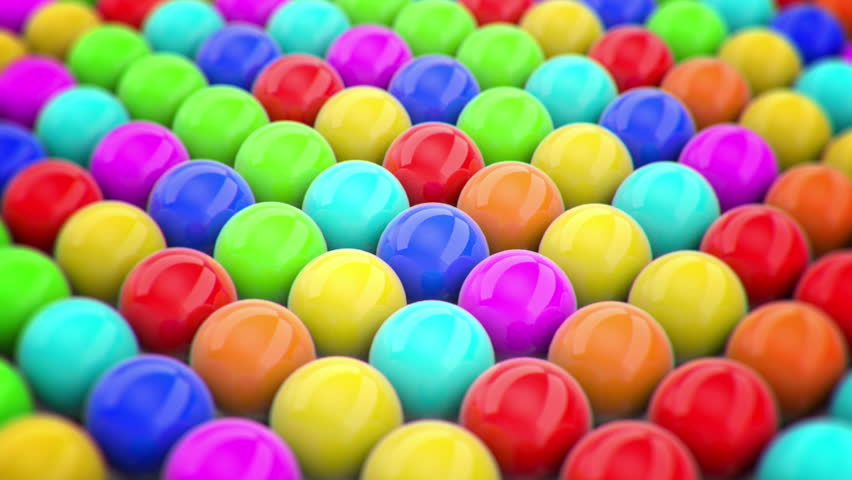 Colored balls, animation of movement. 3d rendering | Shutterstock HD Video #32604742