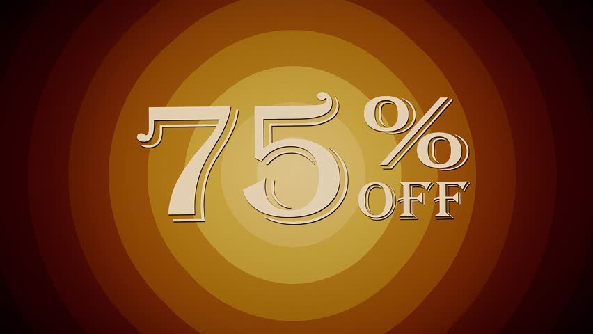 75 percent off discount text jumping seamless loop animation - new quality retro vintage motion joyful addvertisement commercial video footage   Shutterstock HD Video #32610130