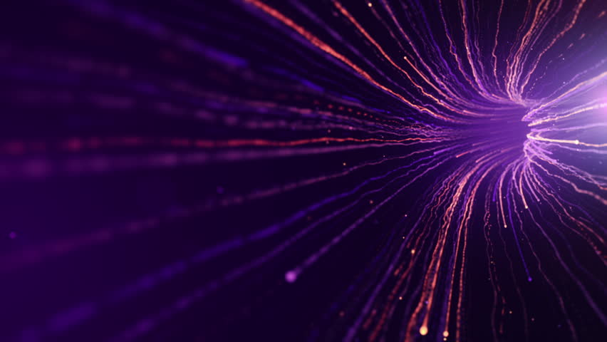 Abstract background with animation of fast moving in tunnel from lines fiber optic network. Magic flickering dots or glowing flying lines. Animation of seamless loop. | Shutterstock HD Video #32620132