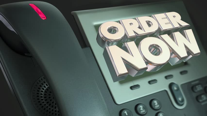 Order Now Telephone Call Contact Us Buy Offer 3d Animation