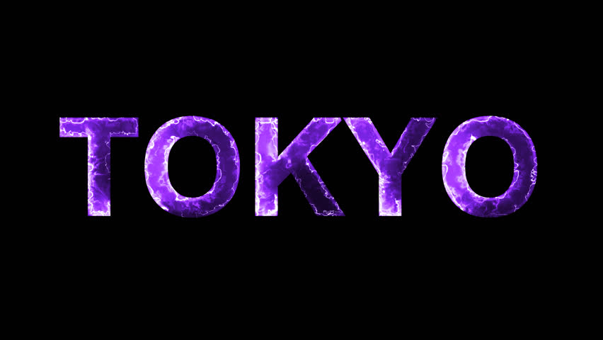 Luminous and shimmering haze inside the letters of the capital name TOKYO. Transparent, Alpha channel | Shutterstock HD Video #32643460