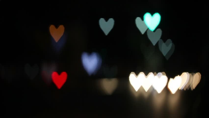 Heart shaped blurred lights. Valentine day | Shutterstock HD Video #3269102
