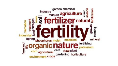 Fertility animated word cloud, text design animation.