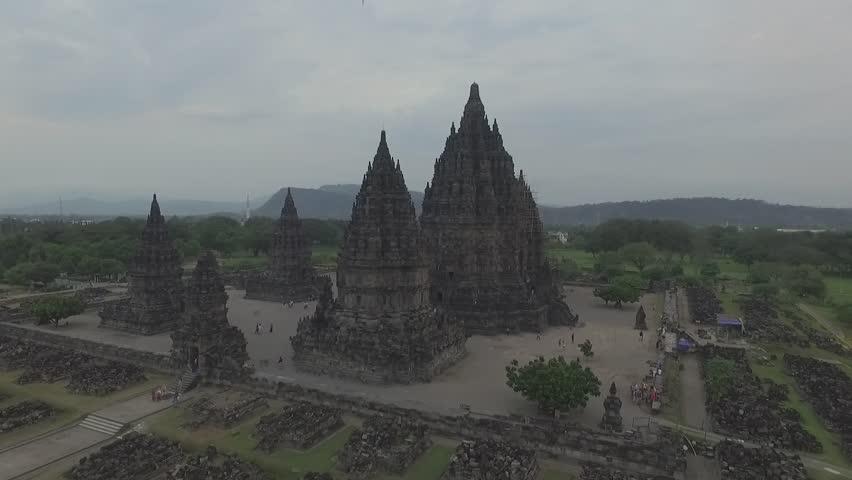 Aerial  of Prambanan temple, Indonesia #32776132