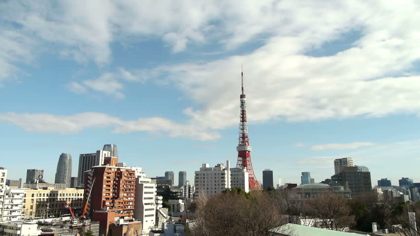 Tokyo skyline Timelapse and City under construction at Daytime 2
