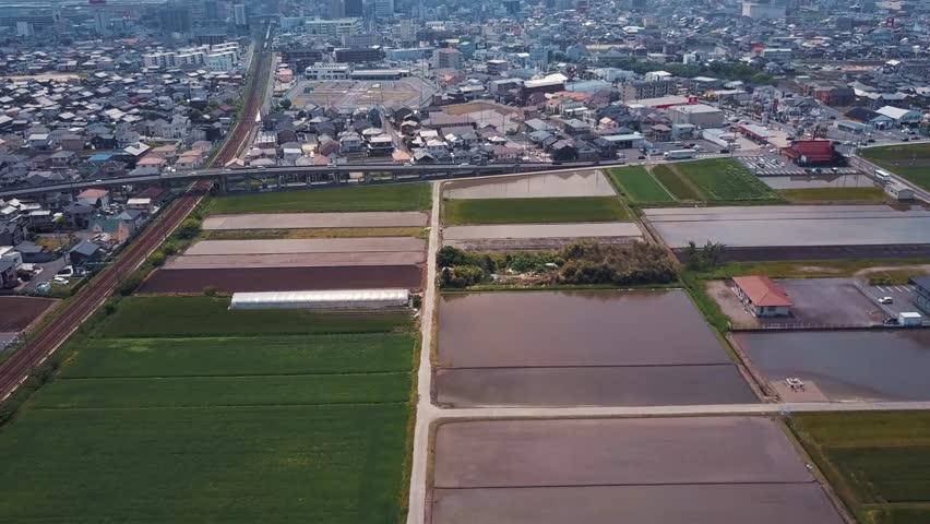 Rice Fields Meeting Neighborhood | Shutterstock HD Video #32809153