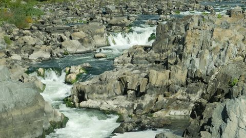 View at rapids of Great Falls on Potomac river