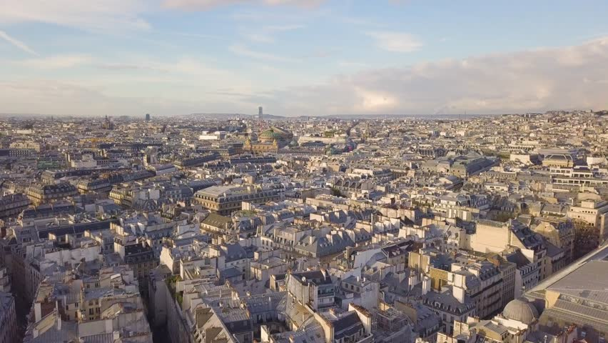 Flying above roofs of Paris | Shutterstock HD Video #32855254