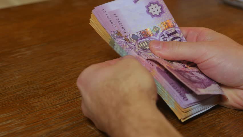 Counting money in hand, hungarian forint banknotes, good quality audio | Shutterstock HD Video #32896405