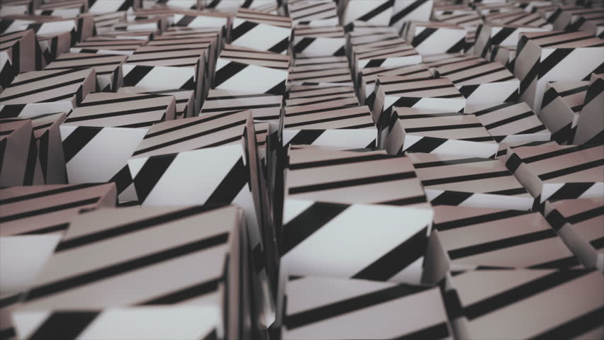 Abstract striped cubes. Seamless looping animation. 4K UHD. | Shutterstock HD Video #32912113