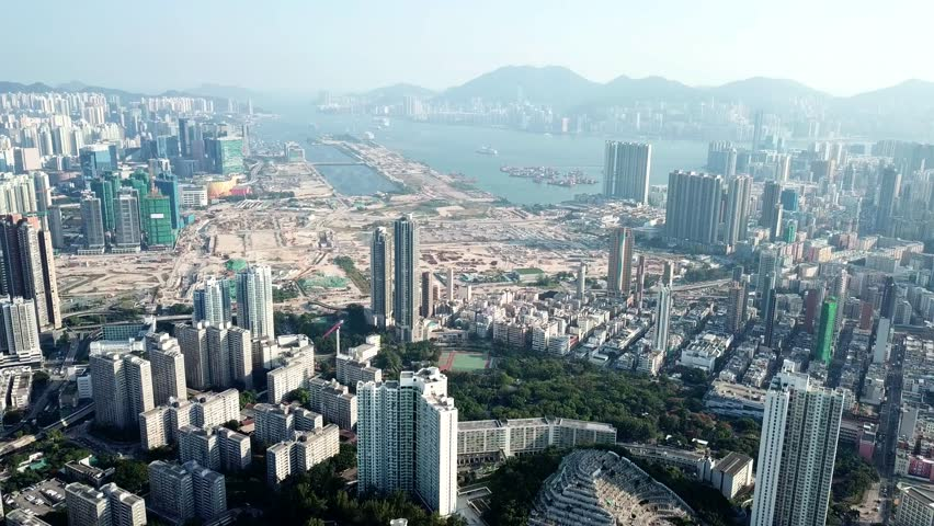 Flying over Hong Kong cityscape | Shutterstock HD Video #32961682