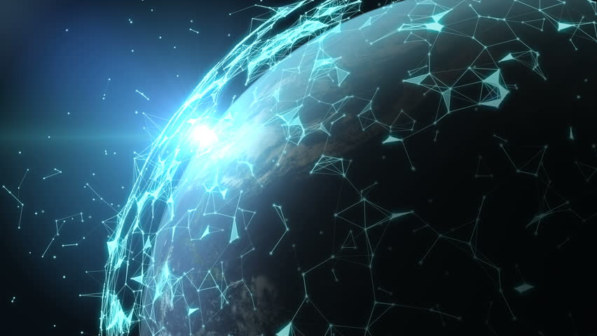 4K abstract networking, Digital World connecting, Elements of this image furnished by NASA. | Shutterstock HD Video #32967091