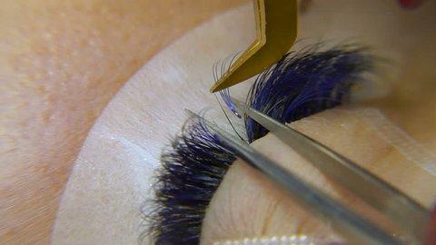 Eyelash extension. Procedures for eyelash extension