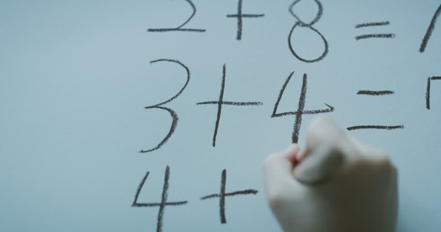 Write a number with crayons | Shutterstock HD Video #33003754