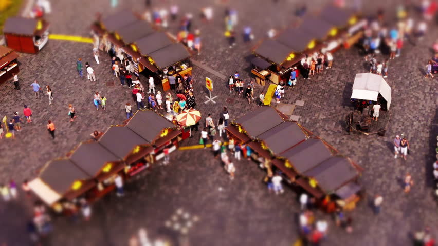 Miniature Old Town Square in Prague (Tilt-shift)