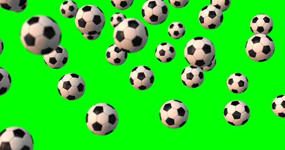 Soccer balls falling green screen | Shutterstock HD Video #33026902
