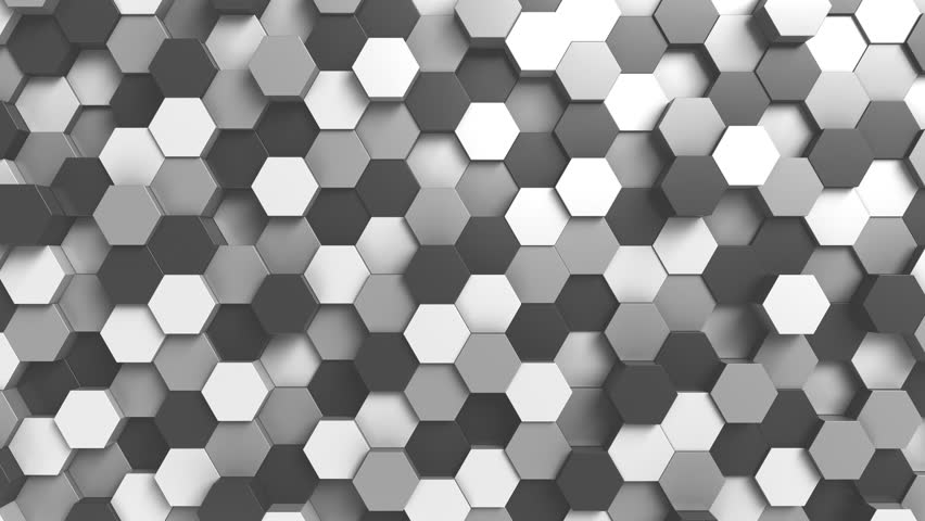 Abstract black and white hexagonal motion background, seamless loop | Shutterstock HD Video #33037513