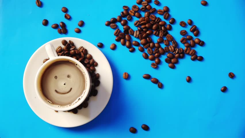 Smile in the cup of coffee | Shutterstock HD Video #3304742