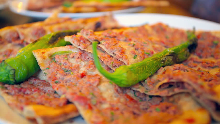 Turkish traditional beef Pide