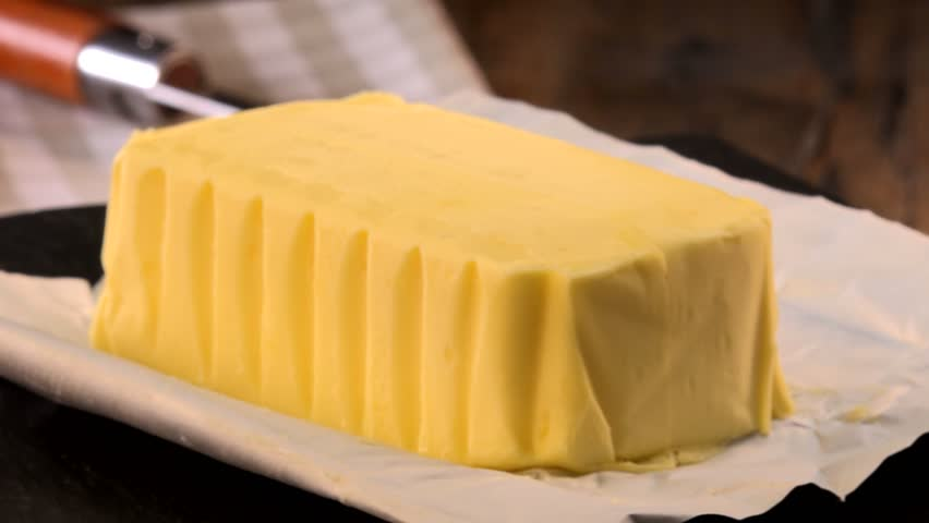 Plate of butter wrapping ready to eat, Agriculture