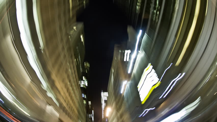 POV through mid-town Manhattan