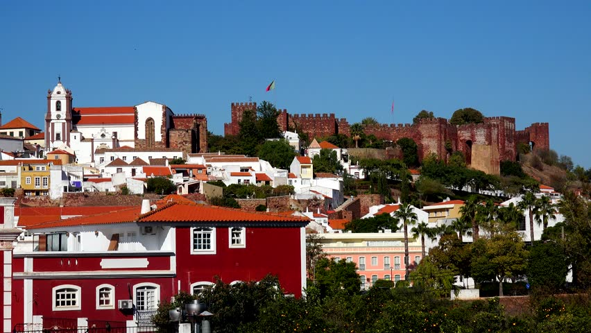 Scenic view of Silves - Algarve, south of Portugal