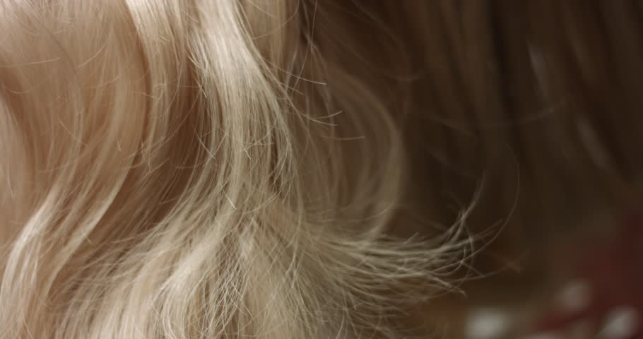 Close up video of woman's long wavy blond hair | Shutterstock HD Video #33166012