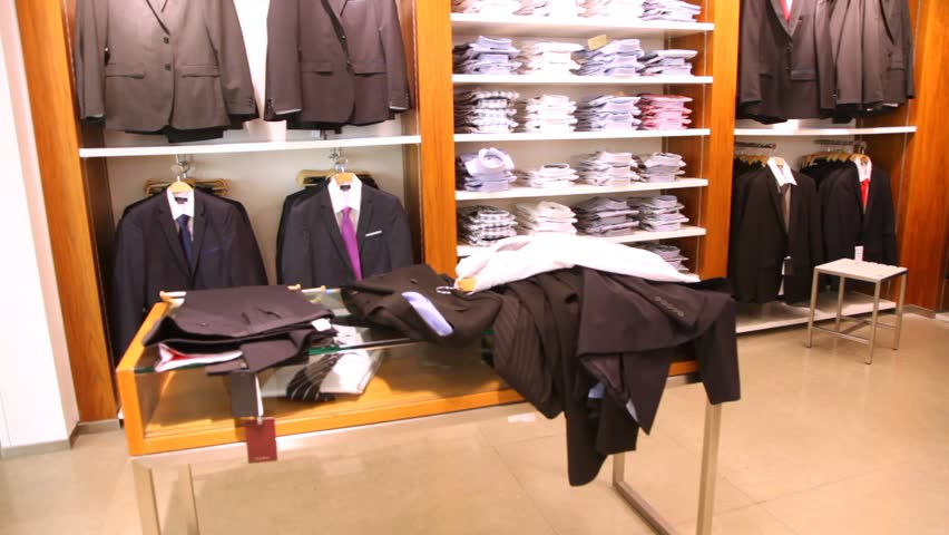 3fc9d77e7519 Empty Mens Clothing Shop with Stock Footage Video (100% Royalty-free ...
