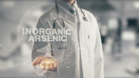 Doctor holding in hand Inorganic Arsenic