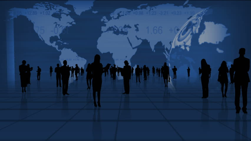 Global business fly through montage images featuring successful business people worldwide in silhouette | Shutterstock HD Video #3325082