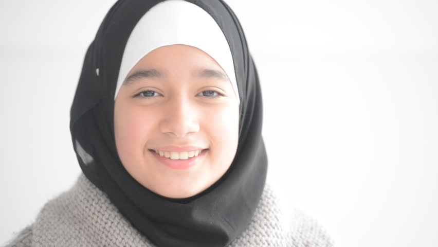 Muslim Girl Smile To Outdoor Stock Footage Video 5043989 -1672