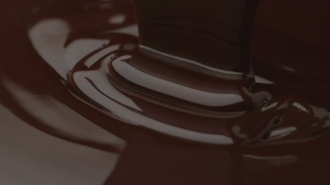 Chocolate pouring in slow motion (closeup), shot with Phantom Flex 4K