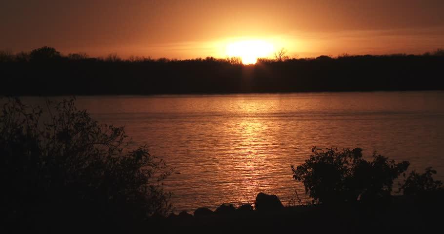 Sunset / Sunrise Over Mississippi River