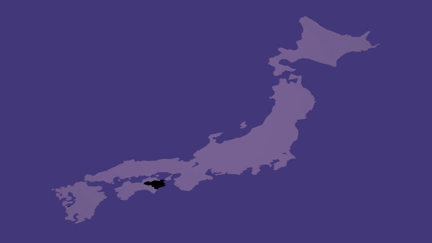 Movie material for overlay that transparently processed the topography of Tokushima prefecture from Japanese map