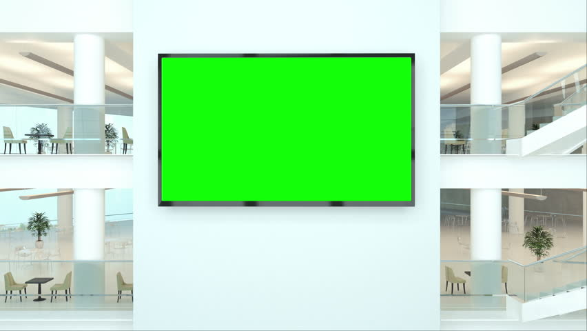 Blank billboard with track green screen in modern building   | Shutterstock HD Video #33473932