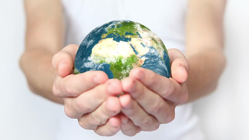 Earth in hands. | Shutterstock HD Video #3348128